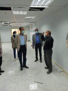 المشروعات الإنشائية بمستشفيات جامعة أسوان تسير علي قدم وساق
