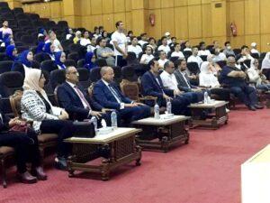 """وكيل معهد إعداد القادة يشارك فى فعاليات المبادرة الطلابية """"الحكاية مصرية"""" بجامعة قناة السويس"""